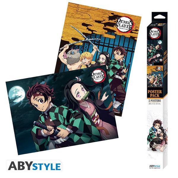 Poster Cazadores de Demonios Kimetsu No Yaiba Set 52 x 38 cms