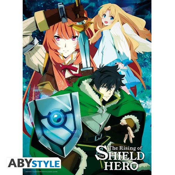 Poster Naofumi's Party The Rising Of The Shield Hero 52 x 38 cms