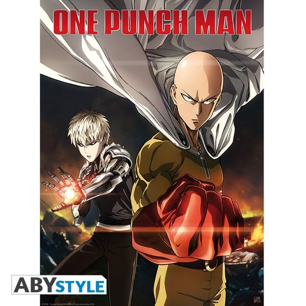 Poster One Punch Man Saitama & Genos 52 x 38 cms