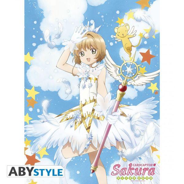 Poster Card Captor Sakura con Varita 52 x 38 cms