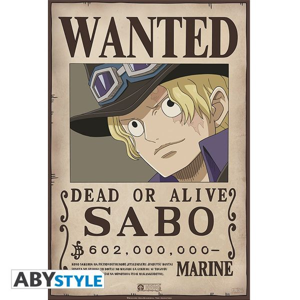 Wanted Sabo Poster One Piece 52 x 35 cms