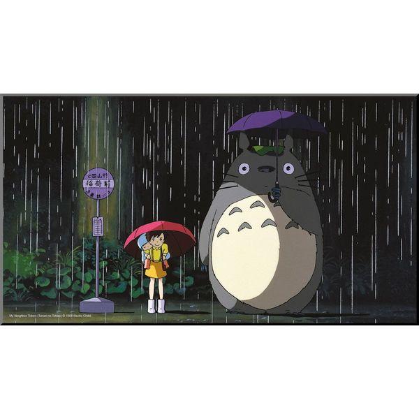 Póster de Madera Bus Stop Mi Vecino Totoro Studio Ghibli
