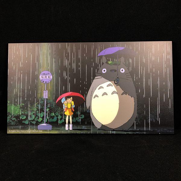 Cuadro de Madera Bus Stop Mi Vecino Totoro Studio Ghibli