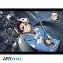 Poster Tanjiro & Urokodaki Kimetsu No Yaiba 52 x 38 cms