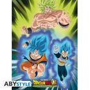 Poster Broly Vs Goku & Vegeta Dragon Ball Super 52 x 38 cm
