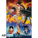 Poster Ace Sabo Luffy One Piece 91,5 x 61 cms
