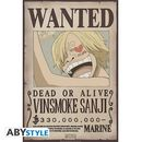 Poster Sanji Wanted One Piece 52 x 35 cms