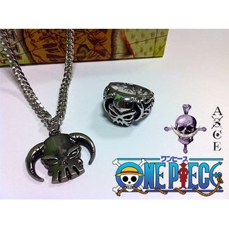 SET Colgante + anillo One Piece - Portgas D. Ace
