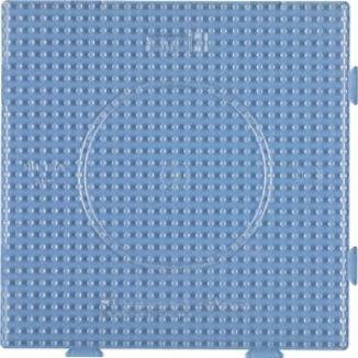Plate / Pegboard 15x15 cm transparent plug for midi Hama