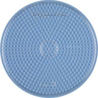 Plate / large circular transparent Pegboard Hama midi