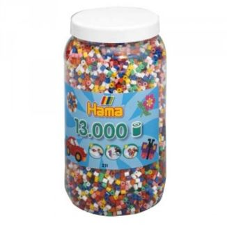 Bote 13.000 piezas Hama midi mix 00 (10 colores)