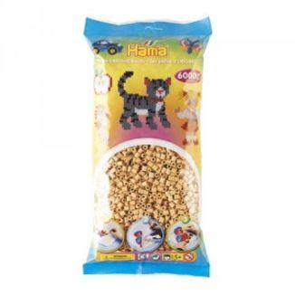 Bolsa de Hama midi beige de 6000 piezas