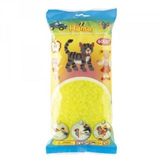 Bolsa de Hama midi amarillo neón de 6000 piezas