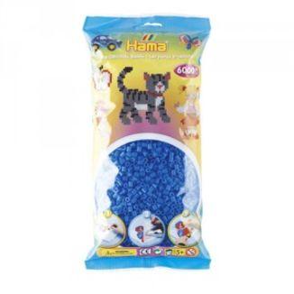 Bolsa de Hama midi azul fluorescente de 6000 piezas