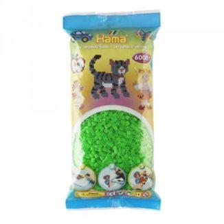 Bolsa de Hama midi verde fluorescente de 6000 piezas