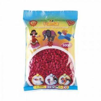 Bolsa de Hama midi rojo granate de 3000 piezas