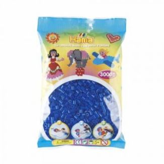Bolsa de Hama midi azul neón de 3000 piezas