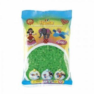Bolsa de Hama midi verde neón de 3000 piezas