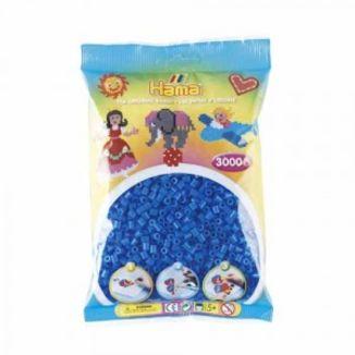Bolsa de Hama midi azul fluorescente de 3000 piezas