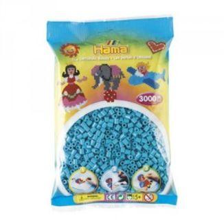 Bolsa de Hama midi azul celeste de 3000 piezas