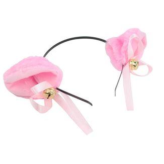 Orejitas con diadema rosa.
