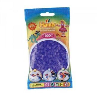 Bolsa de Hama midi lila translúcido de 1000 piezas 207-74
