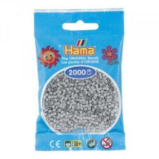 Bolsa de Hama Mini gris claro de 2000 piezas Nº 501-70
