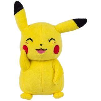Peluche Pikachu Sonriente Pokemon 20 cm