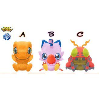 Peluche Agumon, Biyomon & Tentomon  Digimon
