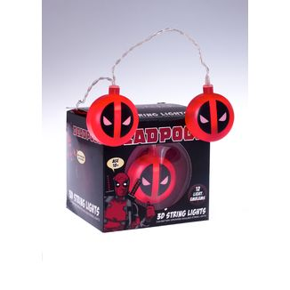 Marvel Comics Deadpool Logo 3D String Lights
