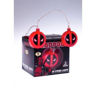 Luces Deadpool Logo Marvel Comics 3D