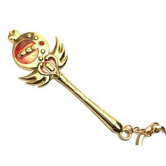 Llavero Sailor Moon - Baculo Lunar Dorado