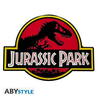 Jurassic Park Logo Metal Plate