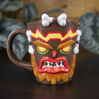 Taza 3D Uka Uka Crash Bandicoot