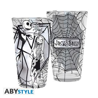 Jack & Sally Large Glass Nightmare Before Christmas