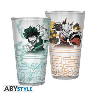 Midoriya & Bakugo My Hero Academy Large Glass 400ml