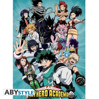 Poster Clase 1-A My Heroe Academia 52 x 38 cms