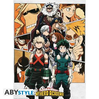Poster My Hero Academia Heroes Group 52 x 38 cms