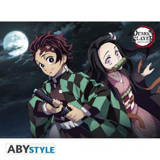Poster Tanjiro & Nezuko Kimetsu No Yaiba 52 x 38 cms