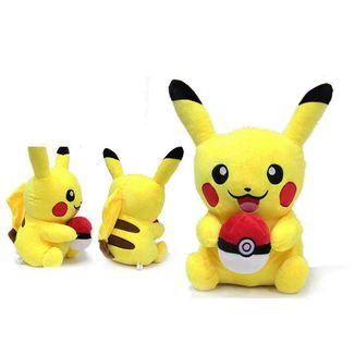Pikachu with Pokeball Plush Doll Pokemon 28 cms
