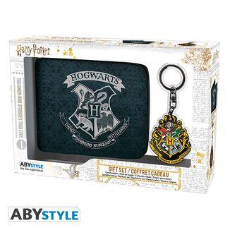 Pack Regalo Cartera + Llavero Hogwarts Harry Potter