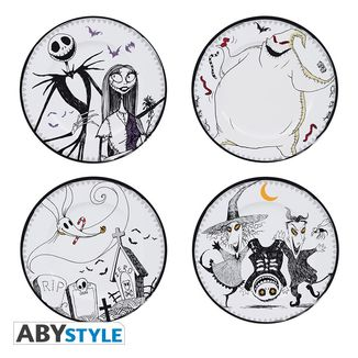 Nightmare before Christmas Plates Jack & Co