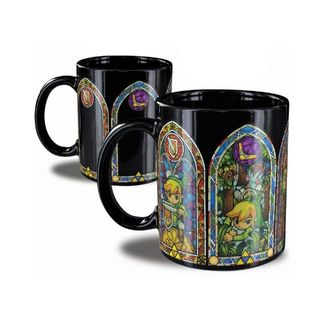 The Wind Waker Stained Glass Heat Change Mug The Legend Of Zelda