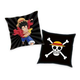 Cojín Monkey D. Luffy y Calavera One Piece 40 x 40 cms