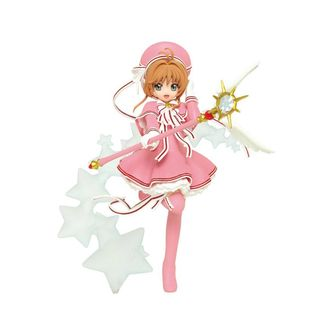 Sakura in Pink Figure Cardcaptor Sakura Clear Card