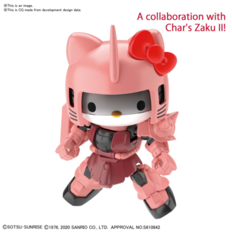 Hello Kitty / Zaku II Pink Model Kit SD Cross Silhouette Gundam