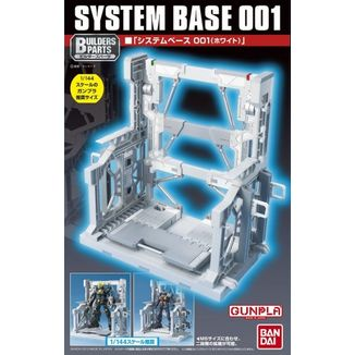 Model Kit System Base 001 Blanco Builder Parts