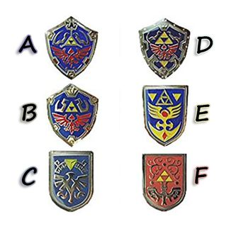 The Legend of Zelda - Shield Pin Badge Collection