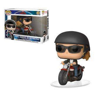 Carol Danvers on Motorcycle Captain Marvel Funko PoP!