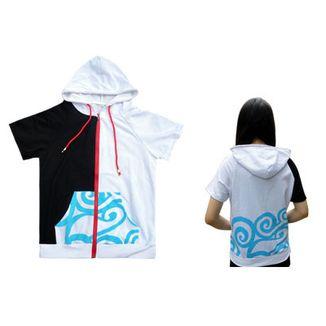 Gintoki Short Sleeve Hoodie Gintama